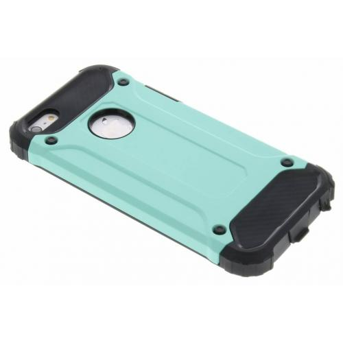 Rugged Xtreme Backcover voor iPhone SE / 5 / 5s - Mintgroen