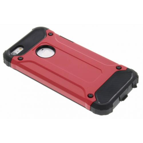 Rugged Xtreme Backcover voor iPhone SE / 5 / 5s - Rood