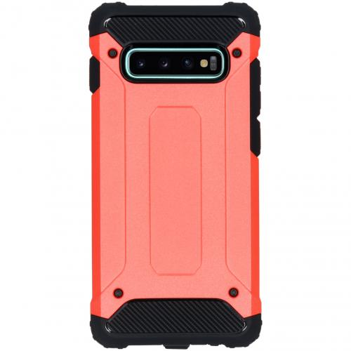 Rugged Xtreme Backcover voor Samsung Galaxy S10 Plus - Rood