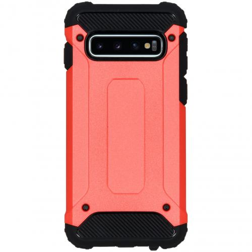 Rugged Xtreme Backcover voor Samsung Galaxy S10 - Rood