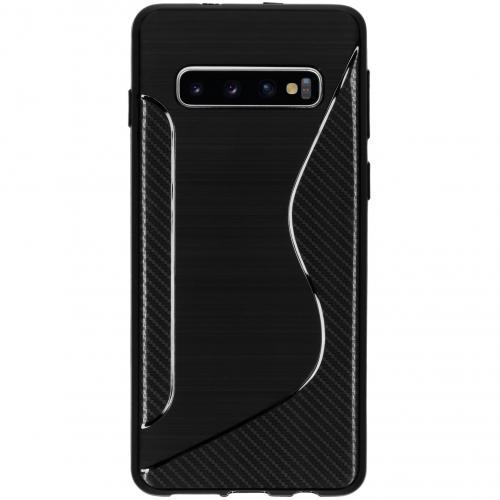 S-line Backcover voor Samsung Galaxy S10 - Zwart