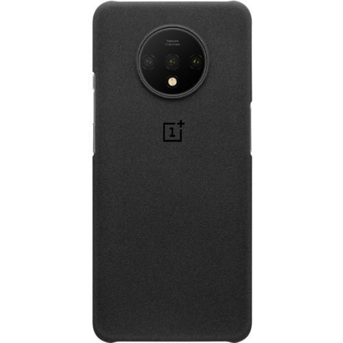 Sandstone Protective Backcover voor de OnePlus 7T - Zwart
