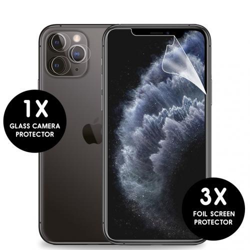 Screenprotector Folie 3 Pack + Camera Protector Glas voor de iPhone 11 Pro