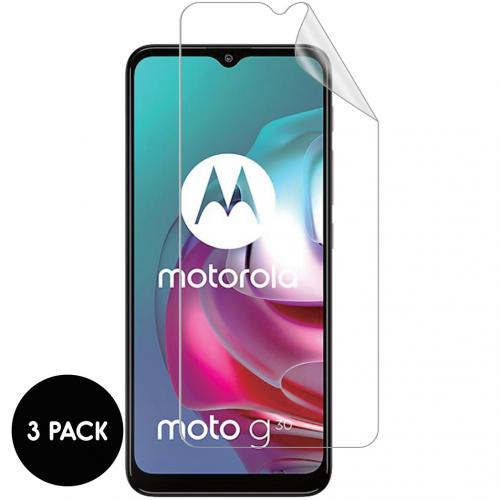 Screenprotector Folie 3 pack voor de Motorola Moto G30 / G20 / G10 (Power)