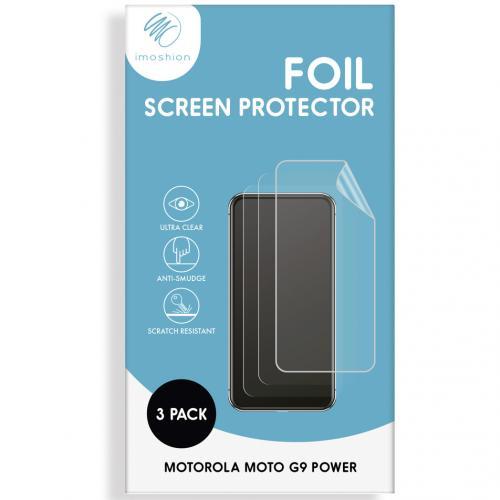 Screenprotector Folie 3 pack voor de Motorola Moto G9 Power