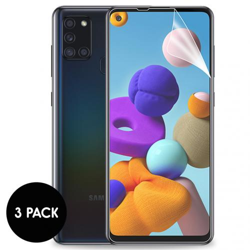Screenprotector Folie 3 pack voor de Samsung Galaxy A21s