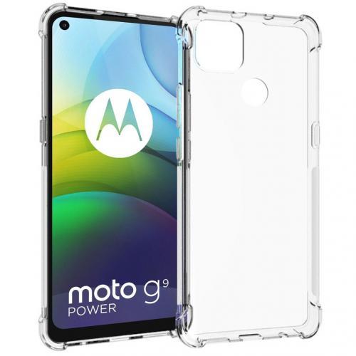 Shockproof Case voor de Motorola Moto G9 Power - Transparant
