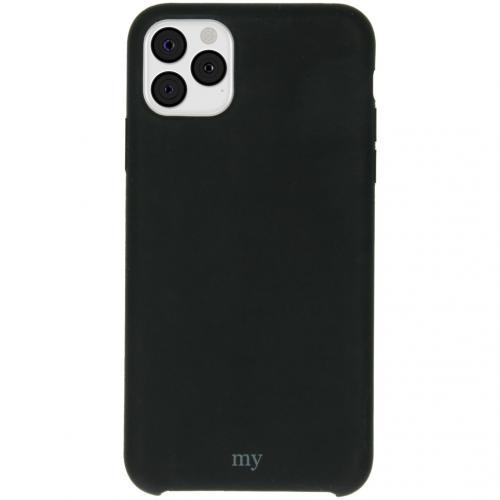 Silicone Backcover voor de iPhone 11 Pro Max - Zwart
