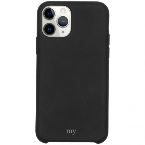Silicone Backcover voor de iPhone 11 Pro - Zwart
