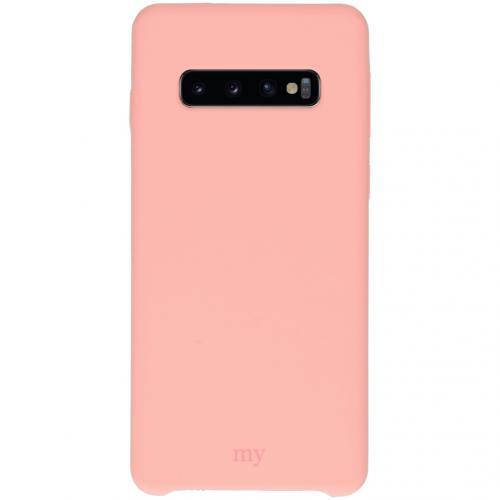 Silicone Backcover voor de Samsung Galaxy S10 - Roze