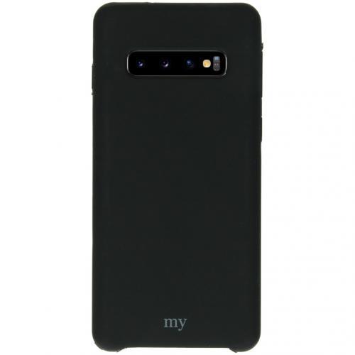 Silicone Backcover voor de Samsung Galaxy S10 - Zwart