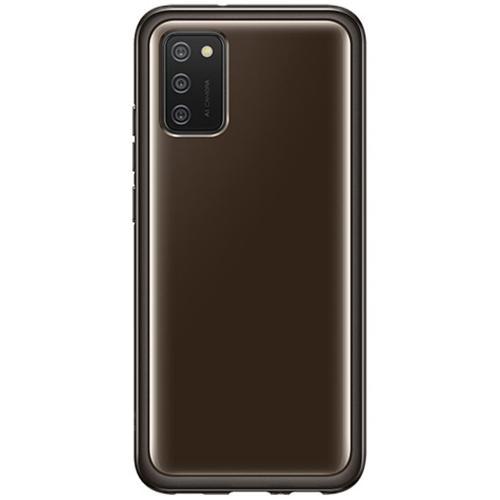 Silicone Clear Cover voor de Galaxy A02s - Zwart