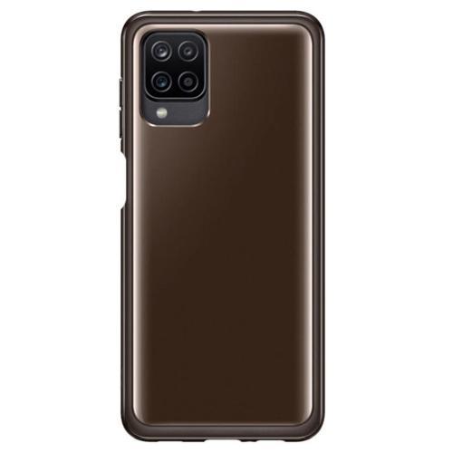 Silicone Clear Cover voor de Galaxy A12 - Zwart