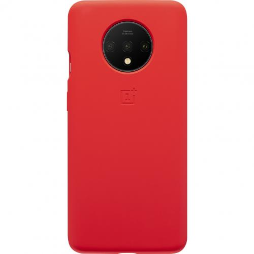 Silicone Protective Backcover voor de OnePlus 7T - Rood