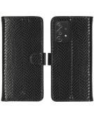 Slangenprint Booktype voor de Samsung Galaxy A52 (5G) / A52 (4G) - Zwart