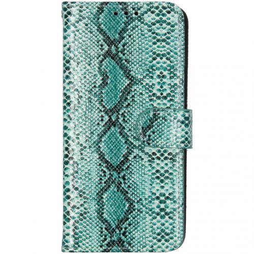Slangenprint Booktype voor de Samsung Galaxy S10 - Groen