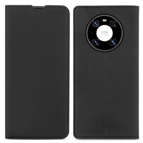 Slim Folio Book Case voor de Huawei Mate 40 Pro - Zwart
