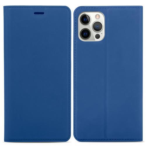 Slim Folio Book Case voor de iPhone 12 (Pro) - Donkerblauw