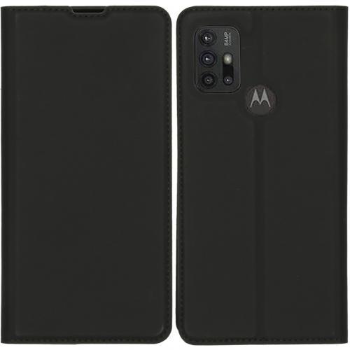 Slim Folio Book Case voor de Motorola Moto G30 / G10 (Power) - Zwart