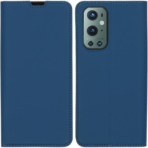 Slim Folio Book Case voor de OnePlus 9 Pro - Donkerblauw