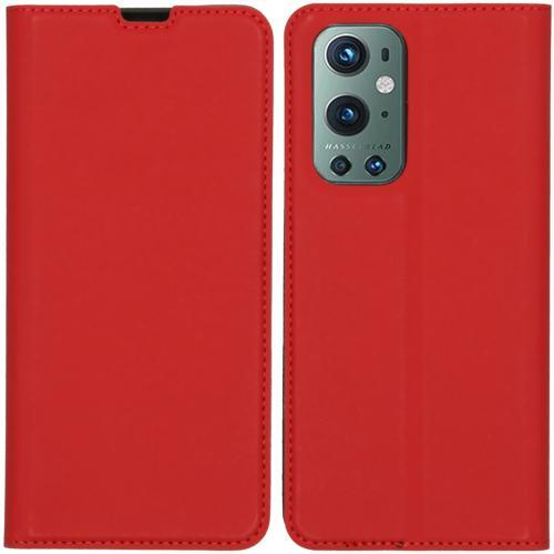Slim Folio Book Case voor de OnePlus 9 Pro - Rood
