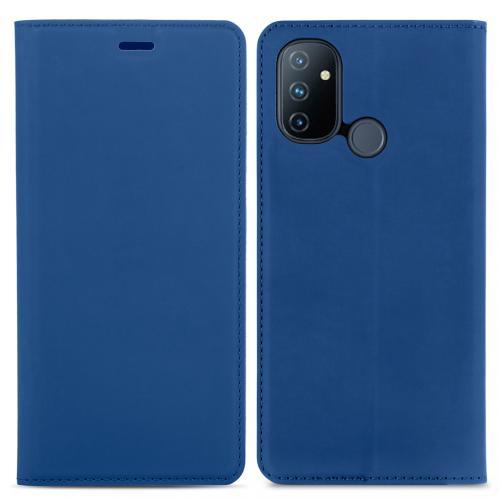 Slim Folio Book Case voor de OnePlus Nord N100 - Donkerblauw