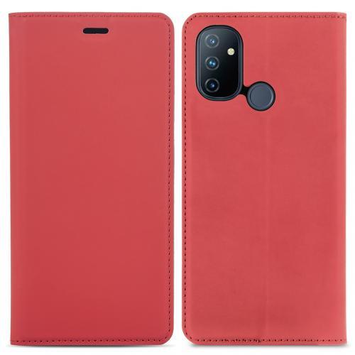 Slim Folio Book Case voor de OnePlus Nord N100 - Rood