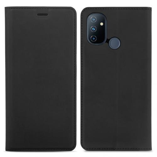 Slim Folio Book Case voor de OnePlus Nord N100 - Zwart