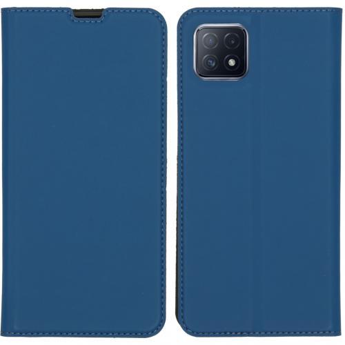 Slim Folio Book Case voor de Oppo A73 (5G) - Donkerblauw