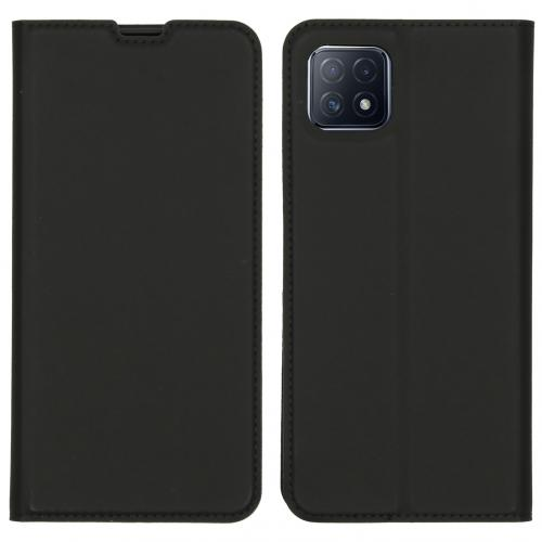 Slim Folio Book Case voor de Oppo A73 (5G) - Zwart