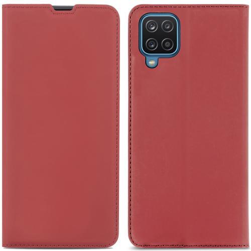 Slim Folio Book Case voor de Samsung Galaxy A12 - Rood