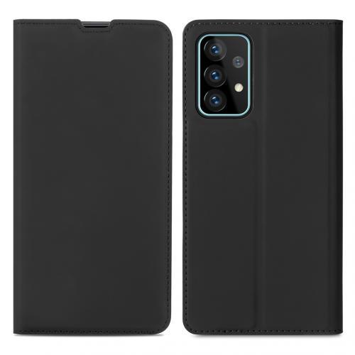 Slim Folio Book Case voor de Samsung Galaxy A52 (5G) / A52 (4G) - Zwart