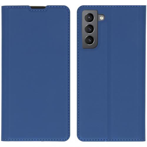 Slim Folio Book Case voor de Samsung Galaxy S21 - Donkerblauw