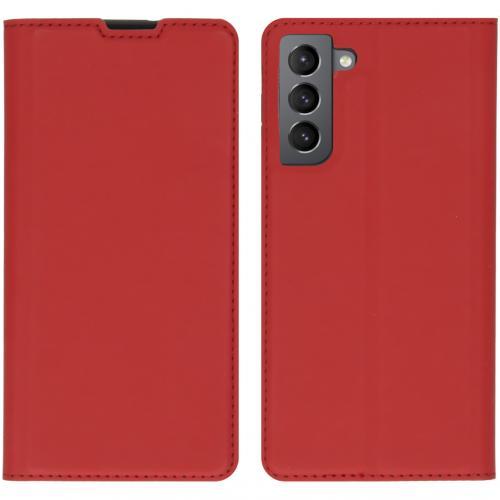Slim Folio Book Case voor de Samsung Galaxy S21 - Rood
