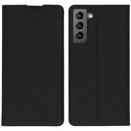 Slim Folio Book Case voor de Samsung Galaxy S21 - Zwart