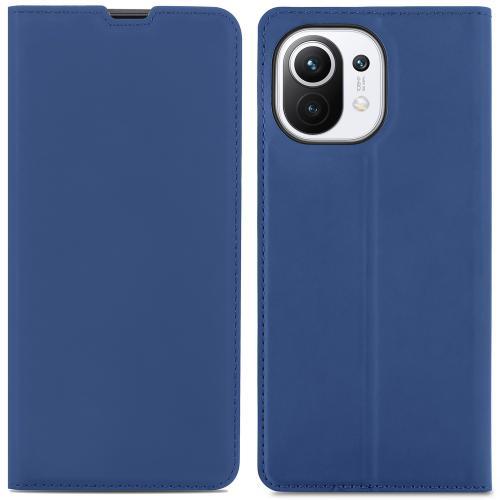 Slim Folio Book Case voor de Xiaomi Mi 11 - Donkerblauw