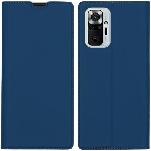 Slim Folio Book Case voor de Xiaomi Redmi Note 10 Pro - Donkerblauw