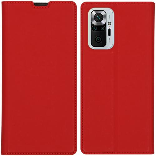 Slim Folio Book Case voor de Xiaomi Redmi Note 10 Pro - Rood