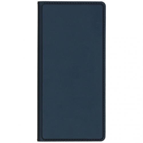 Slim Softcase Booktype voor de Huawei Mate 30 Pro - Donkerblauw