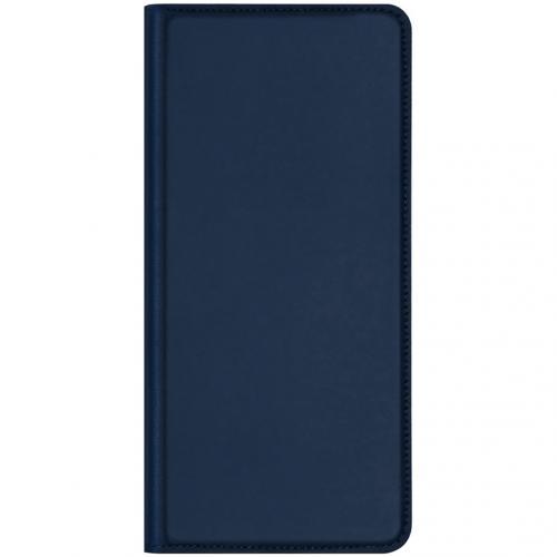 Slim Softcase Booktype voor de Huawei P40 Pro - Donkerblauw