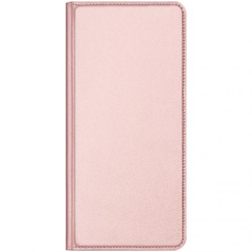 Slim Softcase Booktype voor de Huawei P40 Pro - Rosé Goud