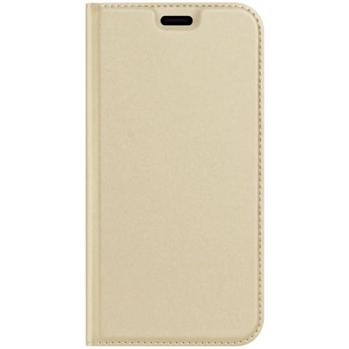 Slim Softcase Booktype voor de iPhone 12 5.4 inch - Goud