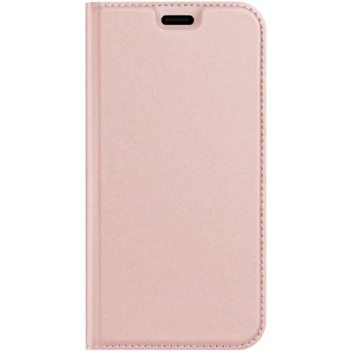 Slim Softcase Booktype voor de iPhone 12 5.4 inch - Rosé Goud