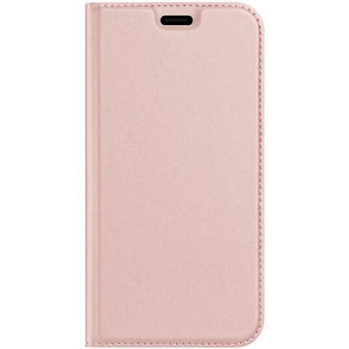 Slim Softcase Booktype voor de iPhone 12 6.1 inch - Rosé Goud