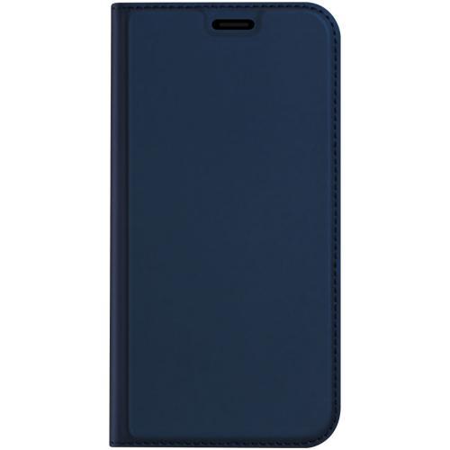 Slim Softcase Booktype voor de iPhone 12 Pro Max - Donkerblauw