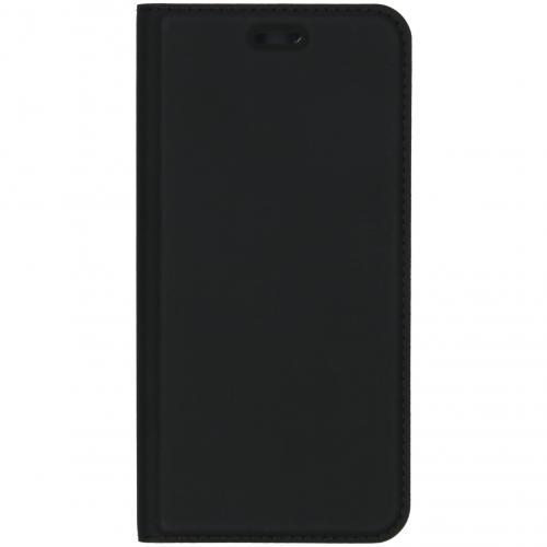 Slim Softcase Booktype voor de Motorola Moto E6 Play - Zwart
