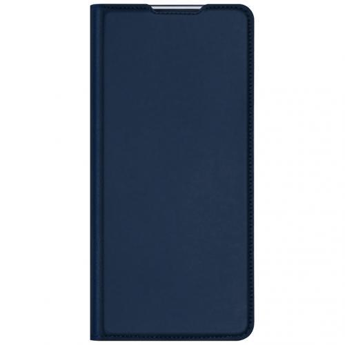Slim Softcase Booktype voor de Motorola Moto G Pro - Donkerblauw