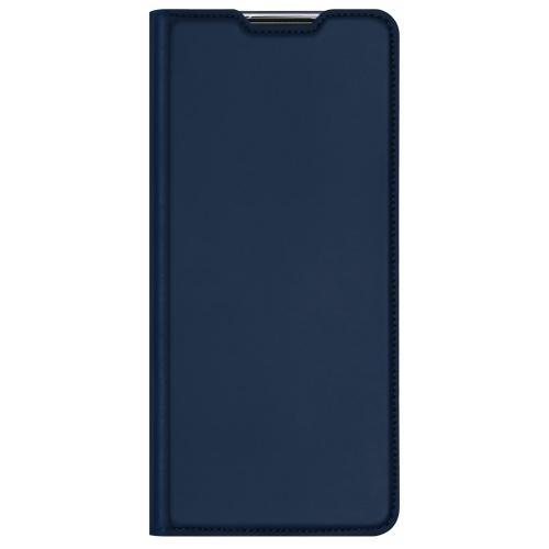 Slim Softcase Booktype voor de Motorola Moto G9 Plus - Donkerblauw