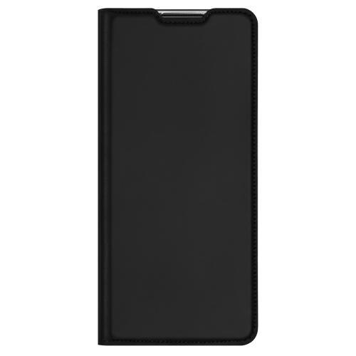 Slim Softcase Booktype voor de Motorola Moto G9 Plus - Zwart