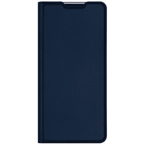 Slim Softcase Booktype voor de Motorola Moto G9 Power - Donkerblauw